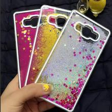 Glitter Stars Dynamic Liquid Quicksand Hard Case Cover For Samsung Transparent Clear Phone Case