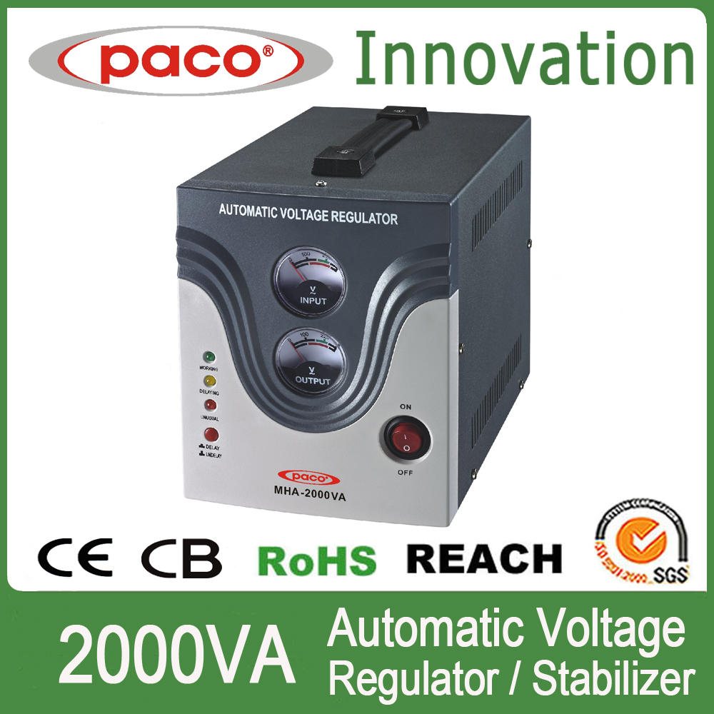 CPU controlled household AVR 2000VA automatic voltage regulator with Chinese brand