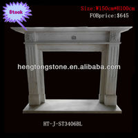 Hand carved Cultured Marble Fireplace Mantel
