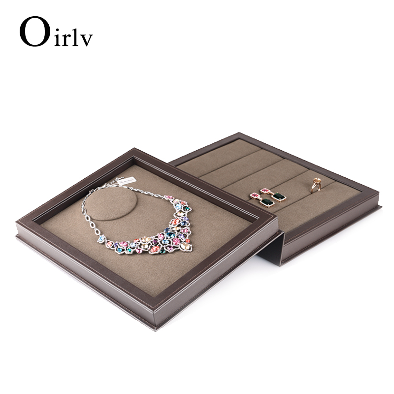 Custom Creative Book Shape Jewellery Holder for Large Pendant Earring Multifunction Leather Jewelry Case for Necklace Ring