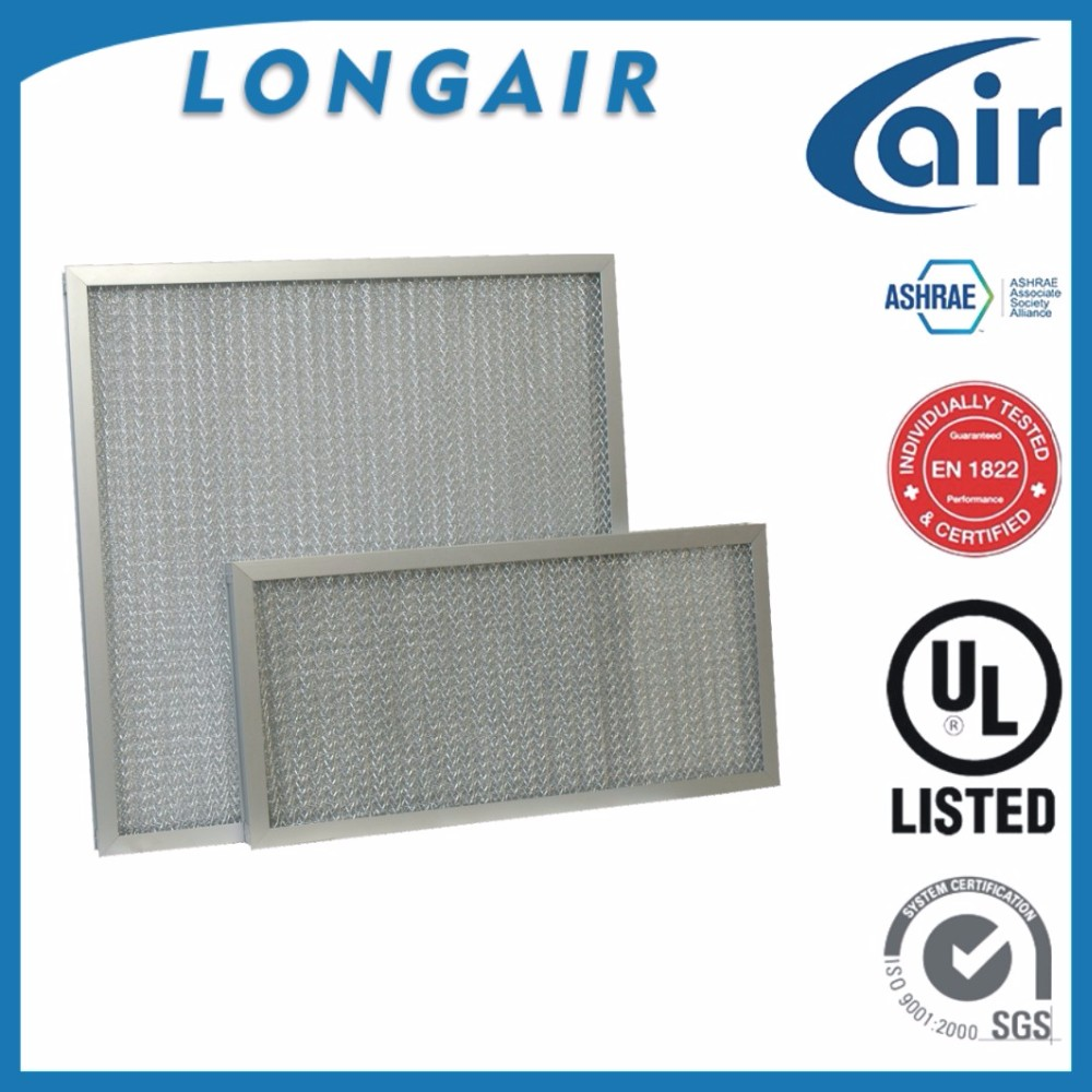 CHINA PERMANENT WASHABLE METAL PANEL FILTER