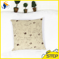 Garden Flower Style Bus Seat Cushion Cover with Polyester Filling