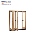 Commercial design aluminum folding door glass panel doors bi fold doors