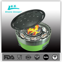 Novelty charcoal homemade rotating bbq grill
