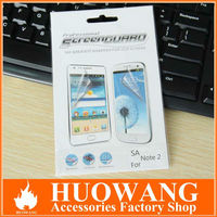 Clear screen protector skin cover guard for samsung galaxy note 2 n7100