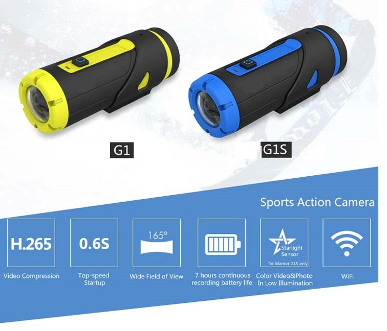 H.265 action <strong>camera</strong> & car video <strong>camera</strong> night vision waterproof wifi support