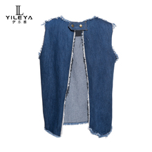 Jeans vest women,ladies vest tops chinese supplier