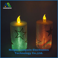 Star Printed LED Flameless Candles Led