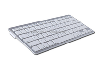 6.7mm utra-thin white wirelss bluetooth keyboard for game and office