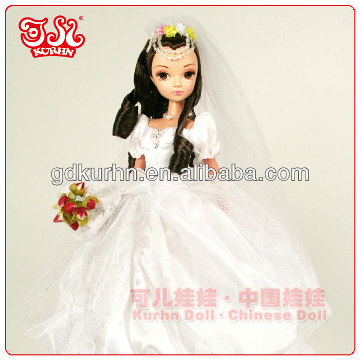 Hot sell wholesale wedding gift doll toy retro wedding gown