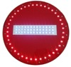 cautionary road LED sign solar energy round No Entry traffic iron sign