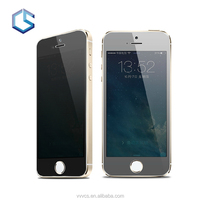 Clear Gold Full Cover Privacy Tmpered Glass Screen Protector for iPhone 5