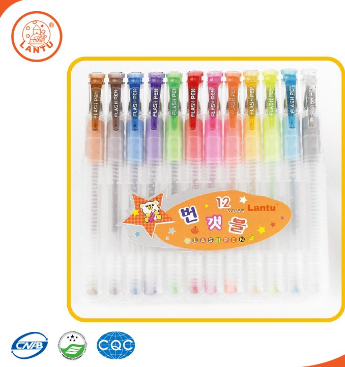 Lantu Wholesale Customized Promotional Multicolor Scented Rainbow Gel Ink Pen