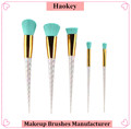 2017 Professional Fishional Modern 5PCS Diamond type unicorn makeup brush set with private label unicorn makeup brush set