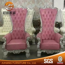 European style white throne chair for wedding