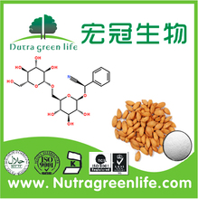 Factory outlet erva bitter apricot kernel antidiabéticos extrato HALAL e kosher certificada <span class=keywords><strong>Vitamina</strong></span> <span class=keywords><strong>B17</strong></span> amigdalina 90% HPLC
