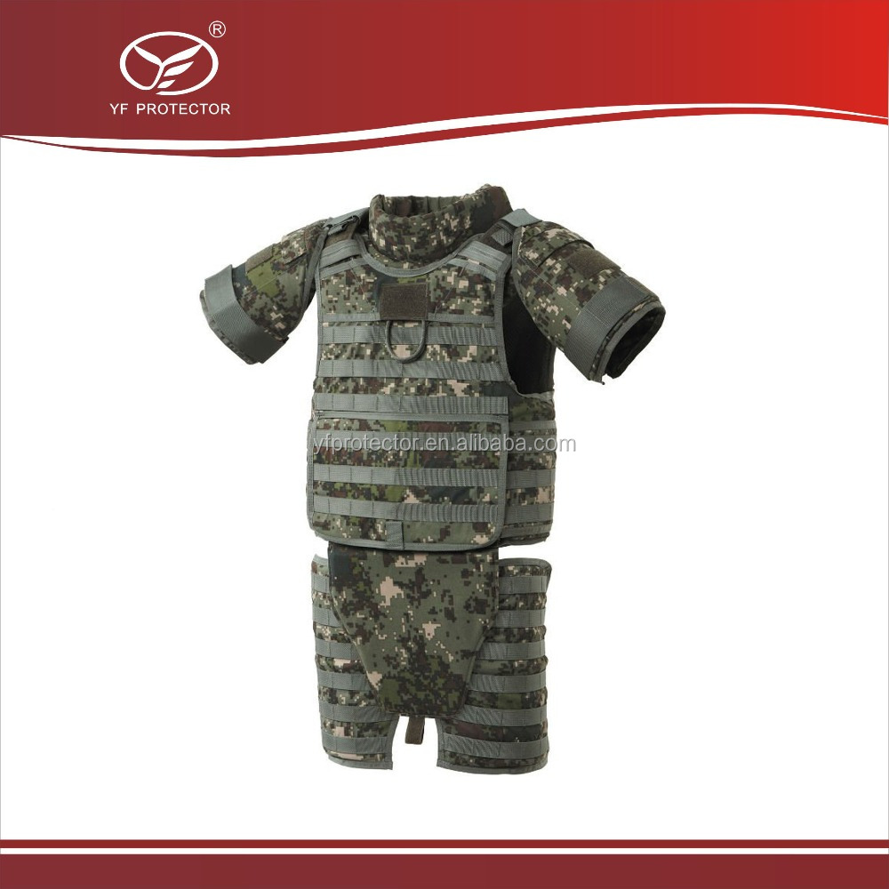 Kevlar Military bullet proof vest Full Body Armor bulletproof Suit with Ballistic plate