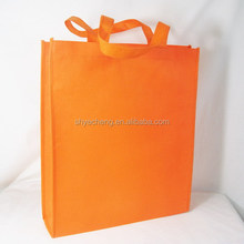 polypropylene foldable recycle customized orange aluminum foil non woven bag,non-woven fabric bag