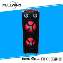 2017 Active fashional wooden DJ PA bluetooth Subwoofer Speaker with Party light 100W RMS