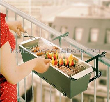 High Quality Hanging Balcony design bbq Grill for barbecue