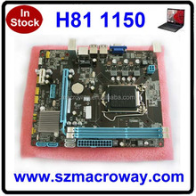 DC 12V Power Supply H81 ITX Motherboard with 1150 Socket and 1000M Lan