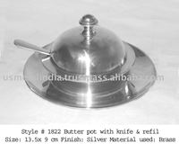 Butter pot with knife & refil