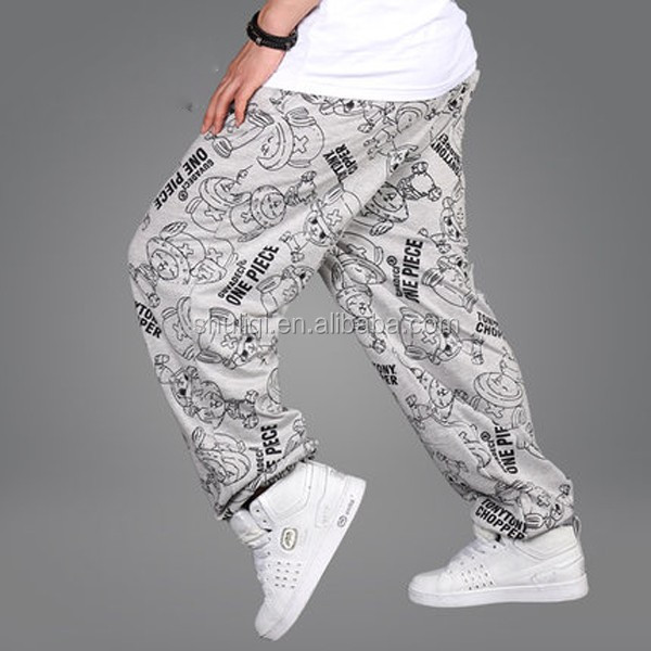 2016 New Arrival colorful mens baggy sweatpants with soft fleece inside
