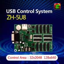 LED USB Control System With RS232 Serial Port ZH-5U8 Controller With Temperature Sensor
