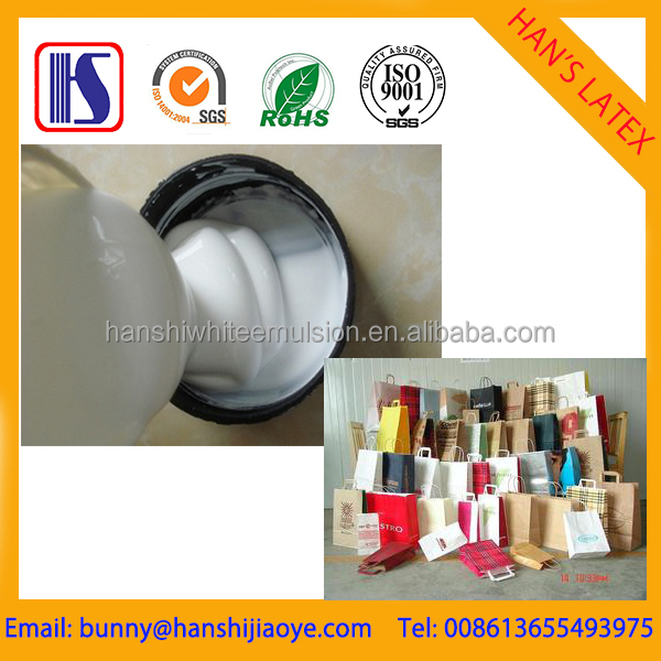 Most popular hot sealing white adhesive for paper bags
