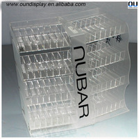manufacturing counter top acrylic e-liquid display case shop design
