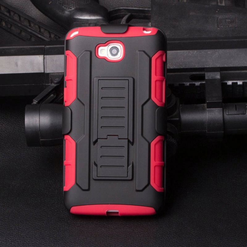 Robot Kickstand Pc Silicon Belt Clip Case For Lg E400 Optimus L3