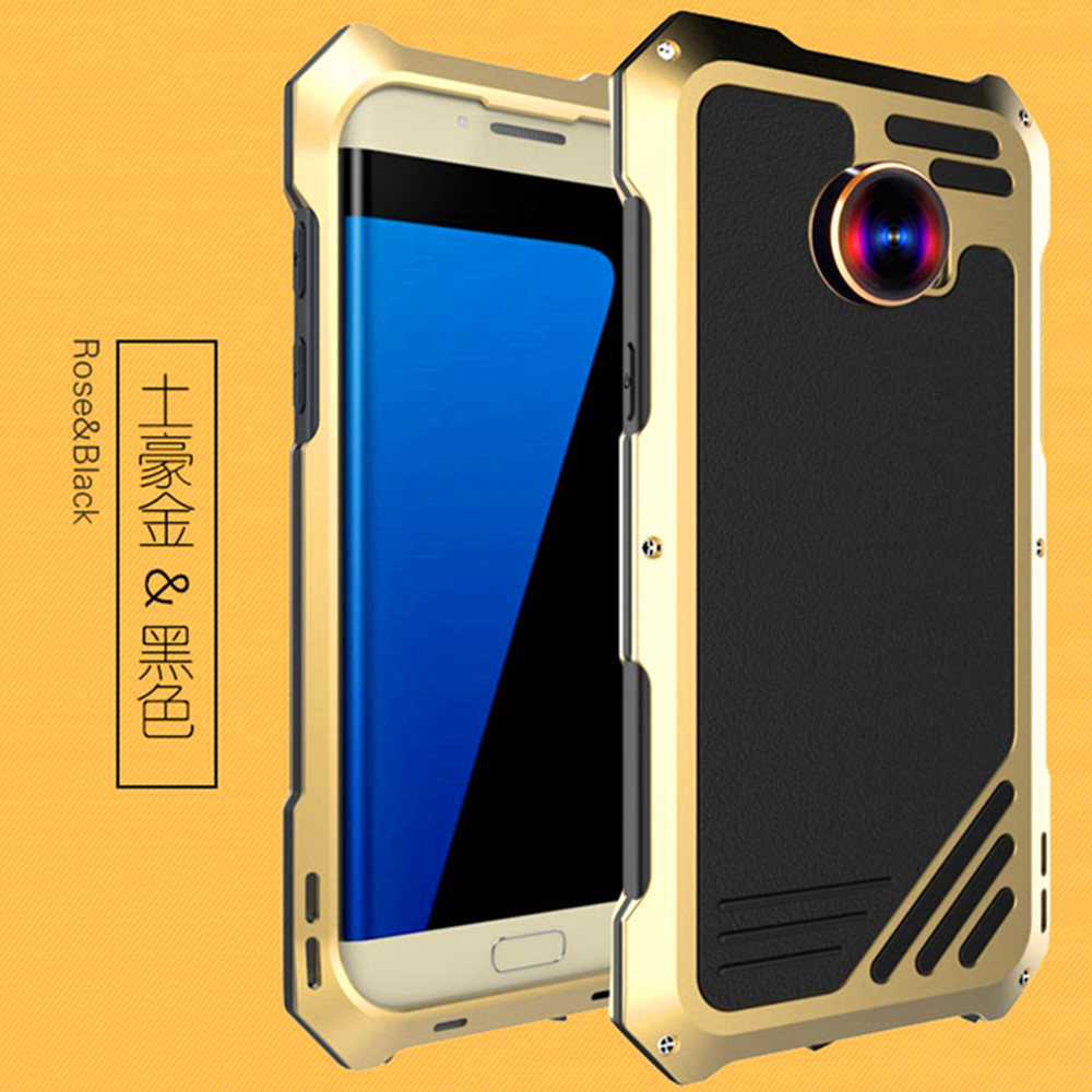 For Samsung Galaxy S7 Edge Shockproof Fisheye Lens camera Lens Metal Case