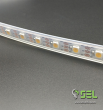 ip65 plastic cover 60leds/m led strip ws2812b flashing led strip light