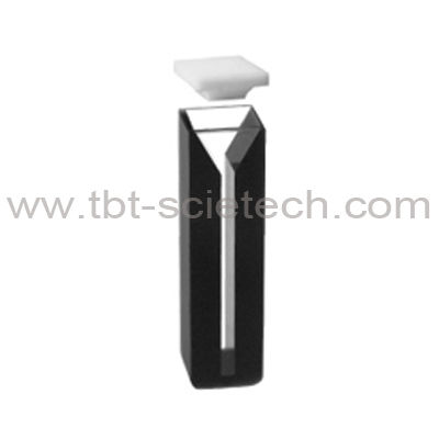 IR Quartz Glass Large Path Length Cheap Q-49 Micro Cell with black walls and with lids