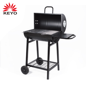 budget affordable backyard large drum aussie bbq pro cheap garden charcoal barrel grill oven and smoker with side table