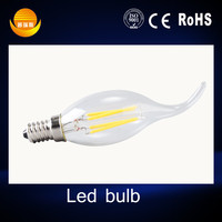 led filament factory Energy Saving high lumen led bulb,lampadine led e14 AC85-265V led candle bulb light manufacturing
