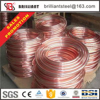 Trade assurance small diameter refrigeration high pressure spiral 6mm copper tube price in india