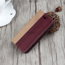 China Supplier Beautiful Top Quality Wood Leather Bulk Smart Phone Stand Case for iphone 5 5s 6s 6splus