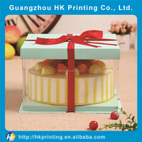 Low Price PVC Clear Plastic Cake Packaging Box