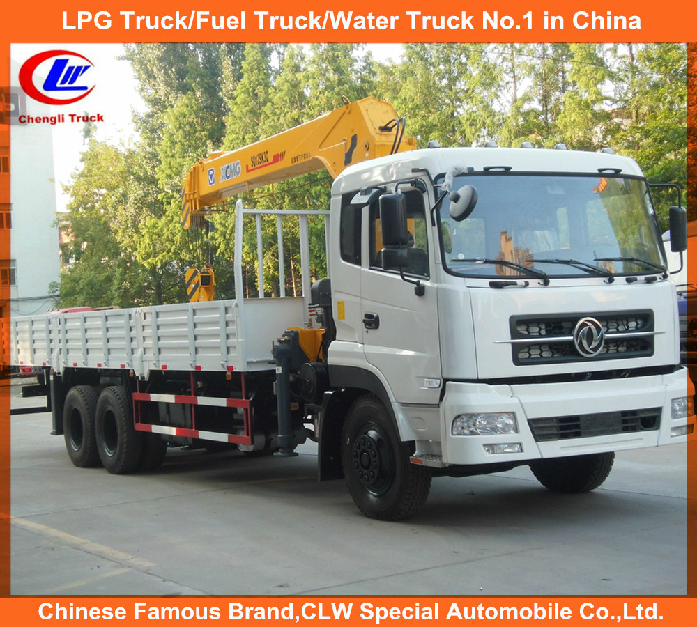 Heavy duty 6*4 Dongfeng 12ton articulated boom lift crane truck for sale