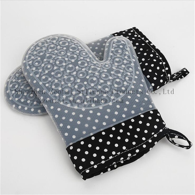 Promotional gifts!! Christmas kitchen oven mitt - silicone oven glove , kitchen silicone oven glove, cooking Grill Glove