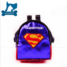 New Funny Dog Backpack Carrier Cartoon Superman Pet Carrier For Teddy