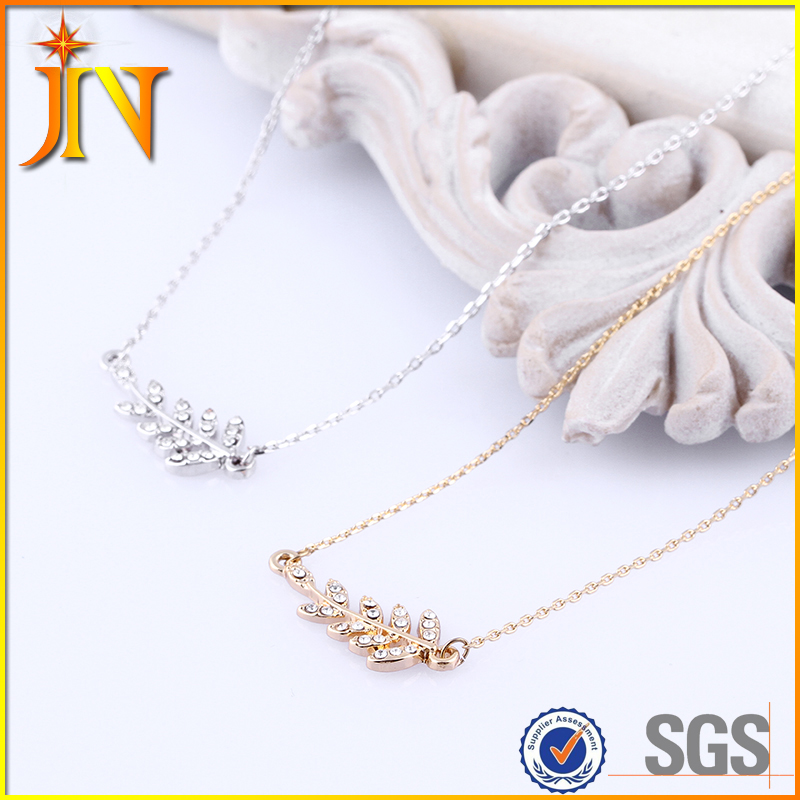 TN0702 JN jewelry wholesale Feather necklace Leaves necklace&pendants send friend gift