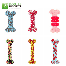 Facotory Wholesale Handmade Cotton Rope Bone Dog Toy for Chewing