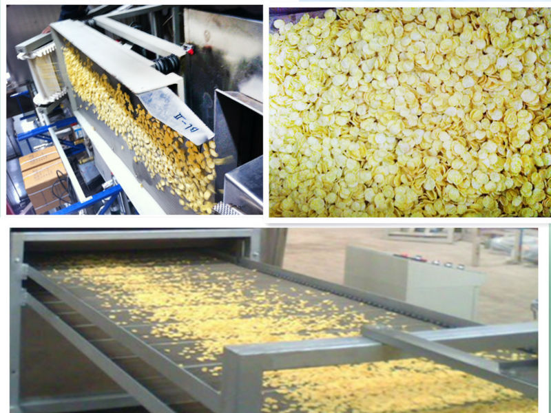 China Supplier Twin Scew Corn Flakes Cookie Extruder Making Machinery Price