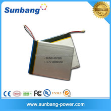 Lithium polymer battery 3.7v 4000mah battery 606090 for bluetooth touch keyboard