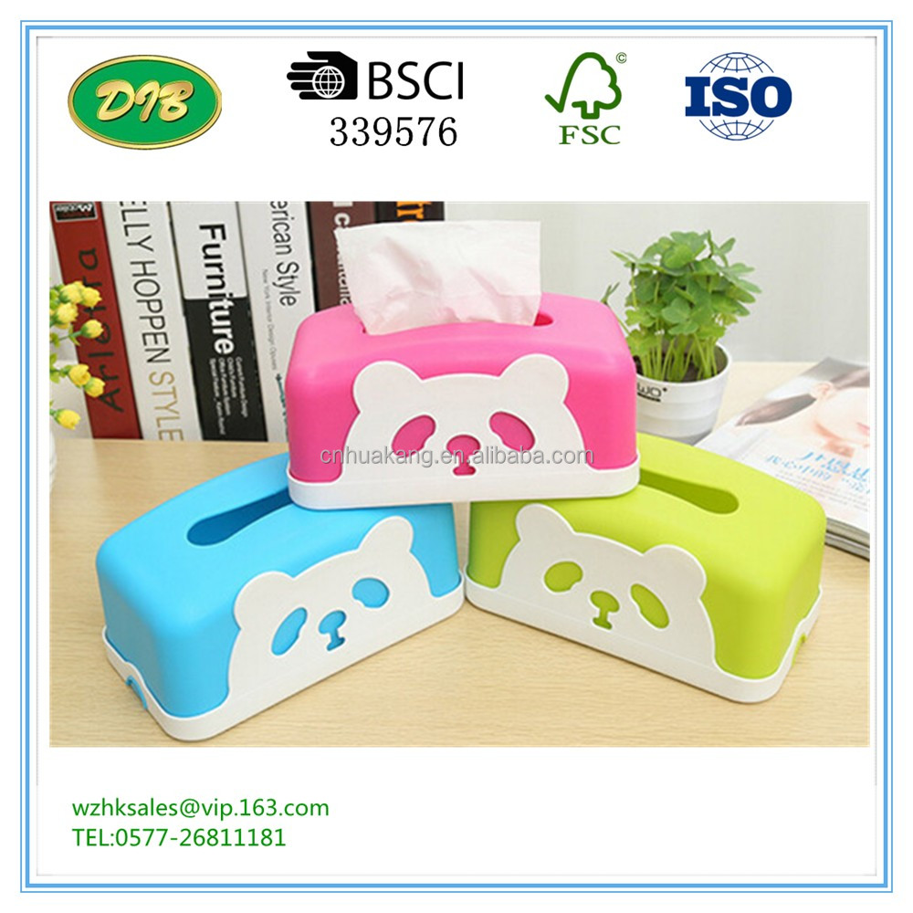 Rectangle Panda Paper Tissue Case Removable Paper Napkin Container Home Decorate Tissue Boxes