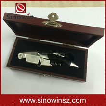 magnetic box wine corkscrew ebony wood wine bottle opener