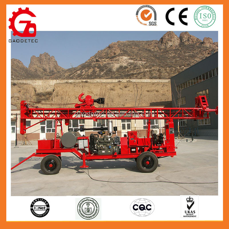 High performance diesel DTH hammer water well drilling rig