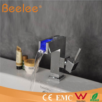 waterfall led bathroom faucet basin mixer